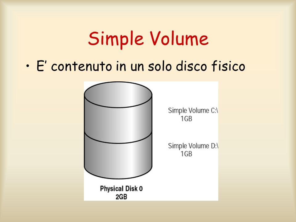Simple Volume E' contenuto in un solo disco fisico