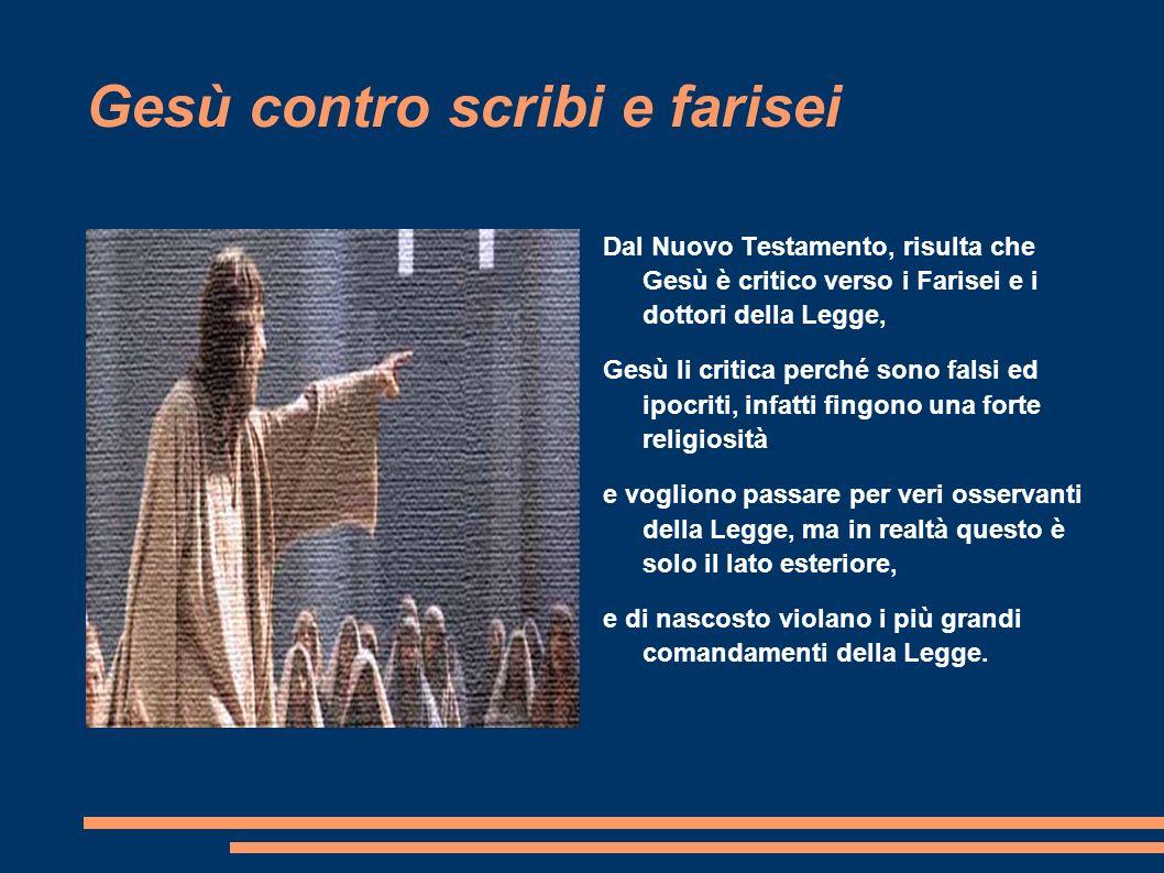 Gesù contro scribi e farisei