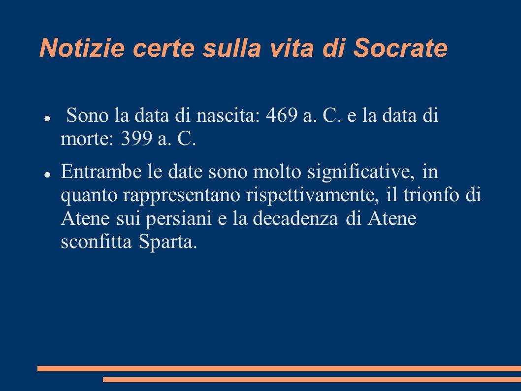Notizie certe sulla vita di Socrate