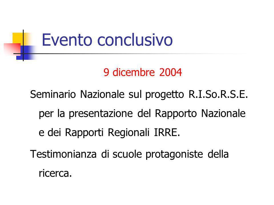 Evento conclusivo 9 dicembre 2004