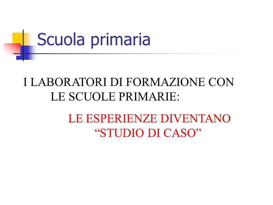 LE ESPERIENZE DIVENTANO STUDIO DI CASO