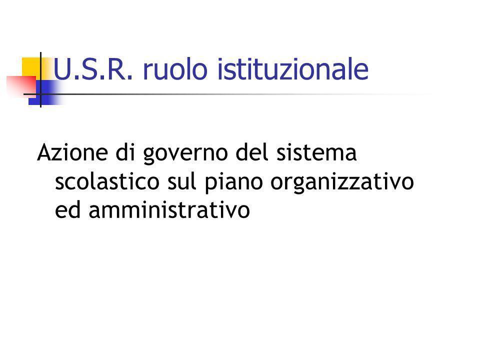 U.S.R. ruolo istituzionale