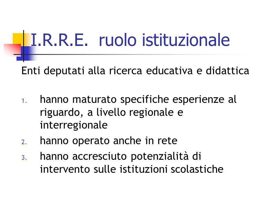 I.R.R.E. ruolo istituzionale