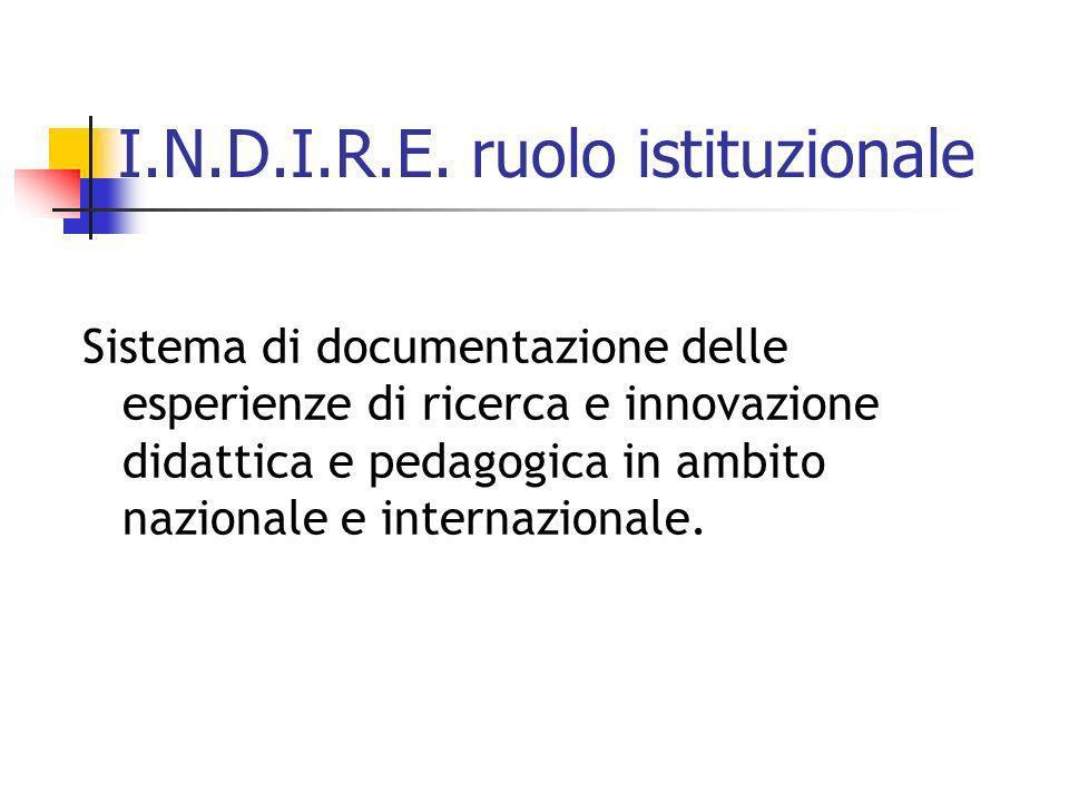 I.N.D.I.R.E. ruolo istituzionale