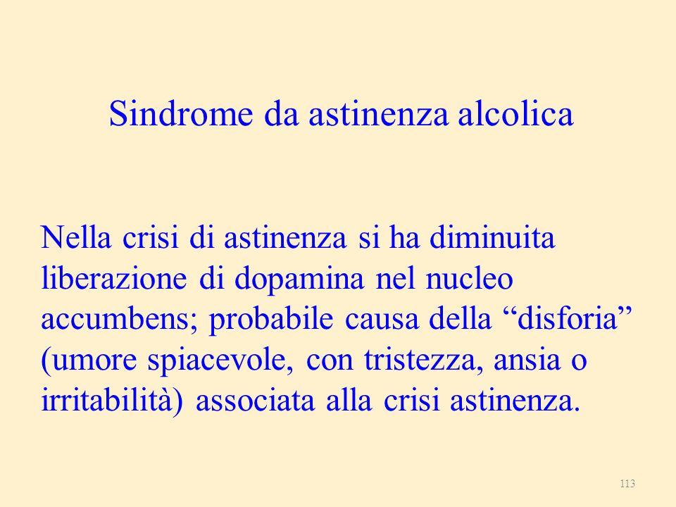 Sindrome da astinenza alcolica