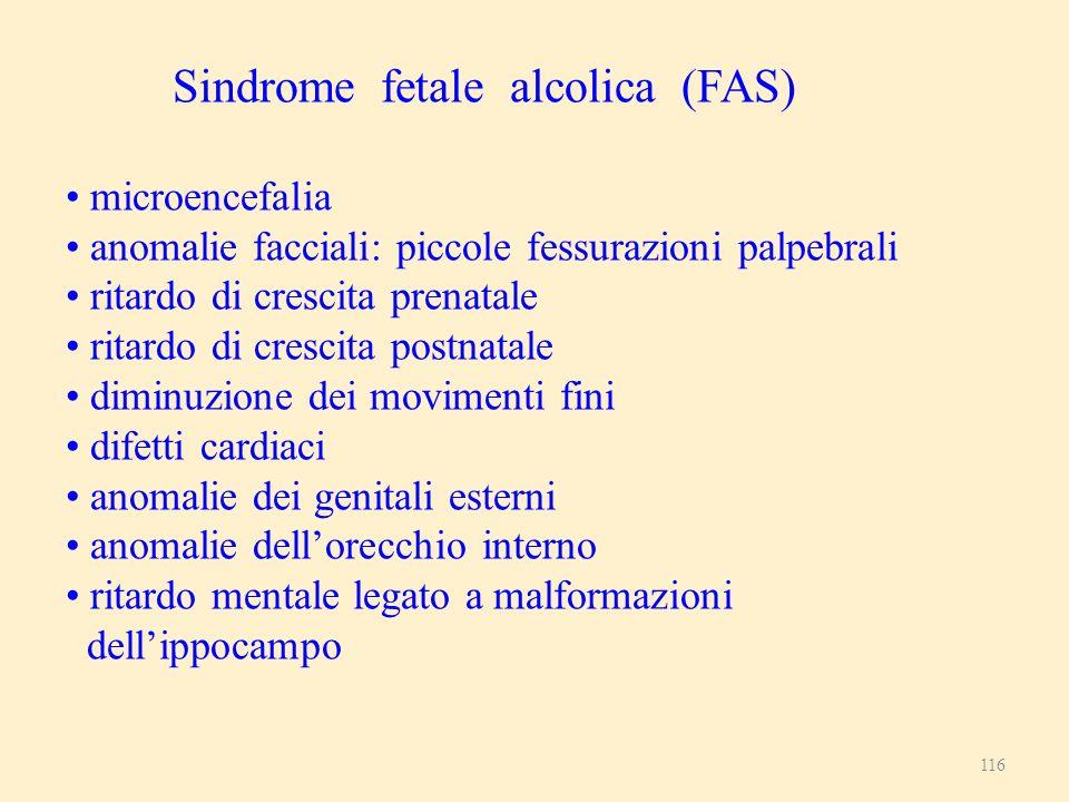 Sindrome fetale alcolica (FAS)