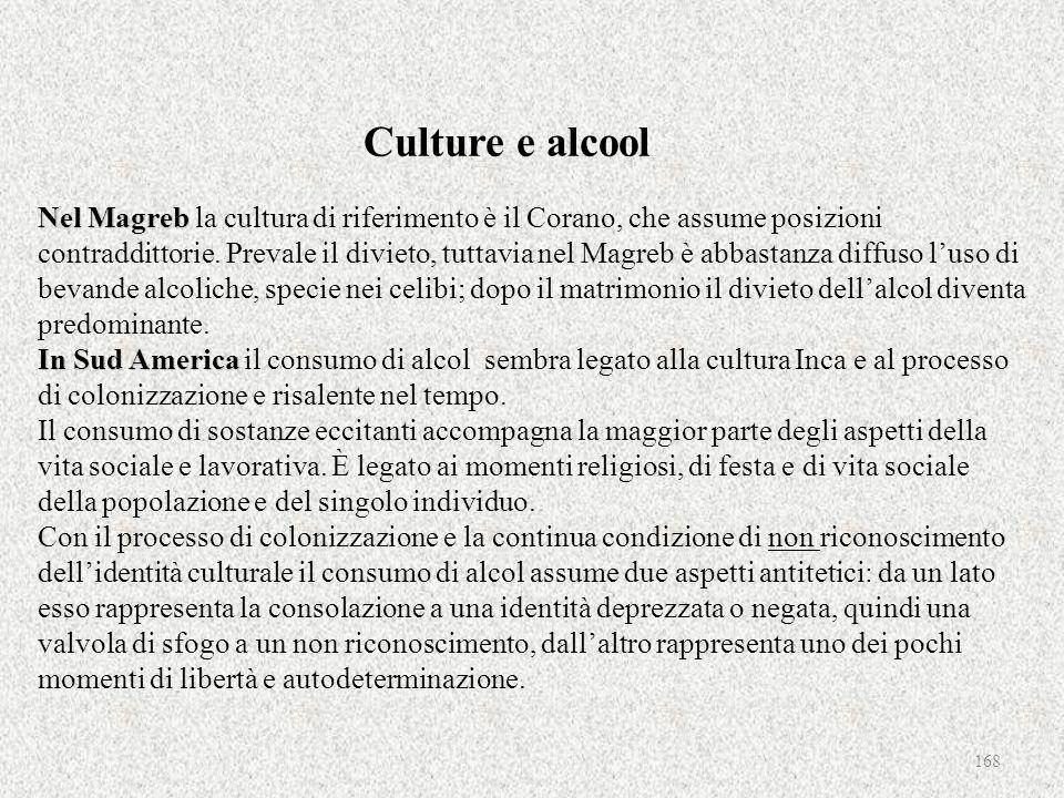 Culture e alcool Nel Magreb la cultura di riferimento è il Corano, che assume posizioni contraddittorie.