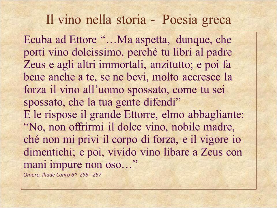 Il vino nella storia - Poesia greca