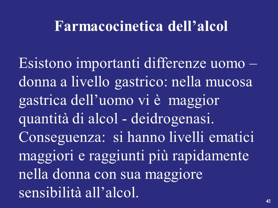 Farmacocinetica dell'alcol