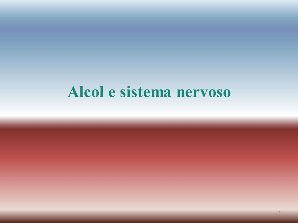 Alcol e sistema nervoso