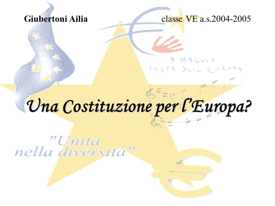 Una Costituzione per l'Europa
