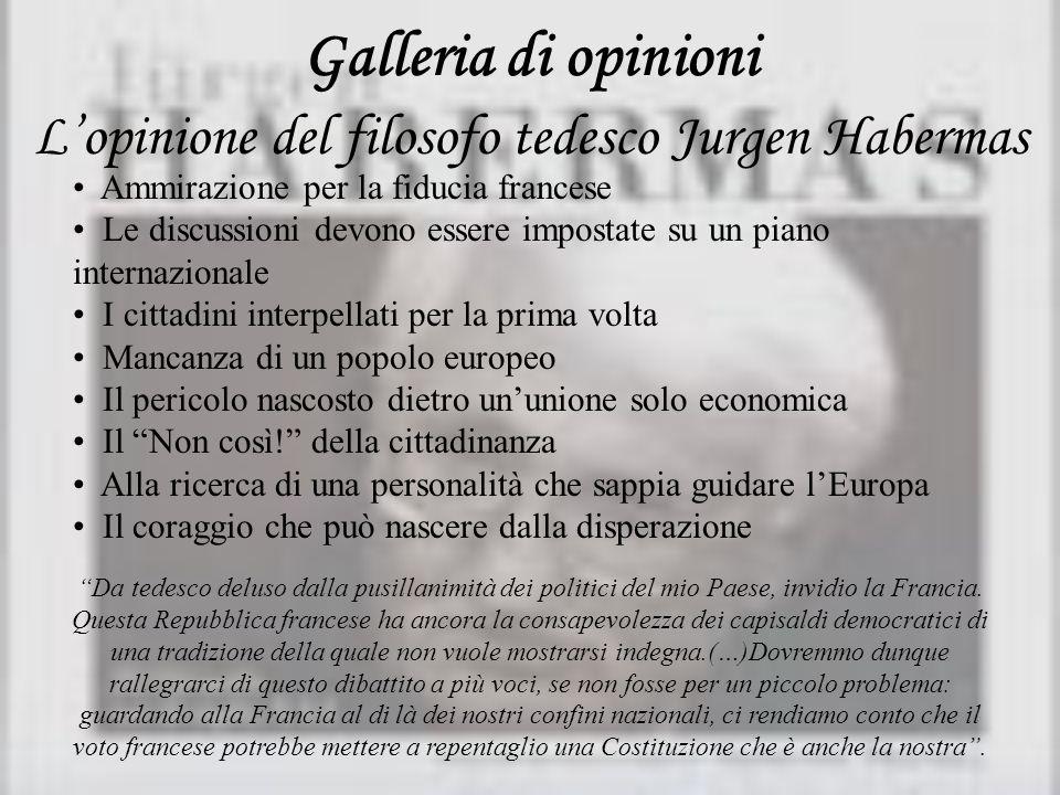 L'opinione del filosofo tedesco Jurgen Habermas