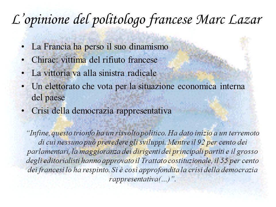 L'opinione del politologo francese Marc Lazar