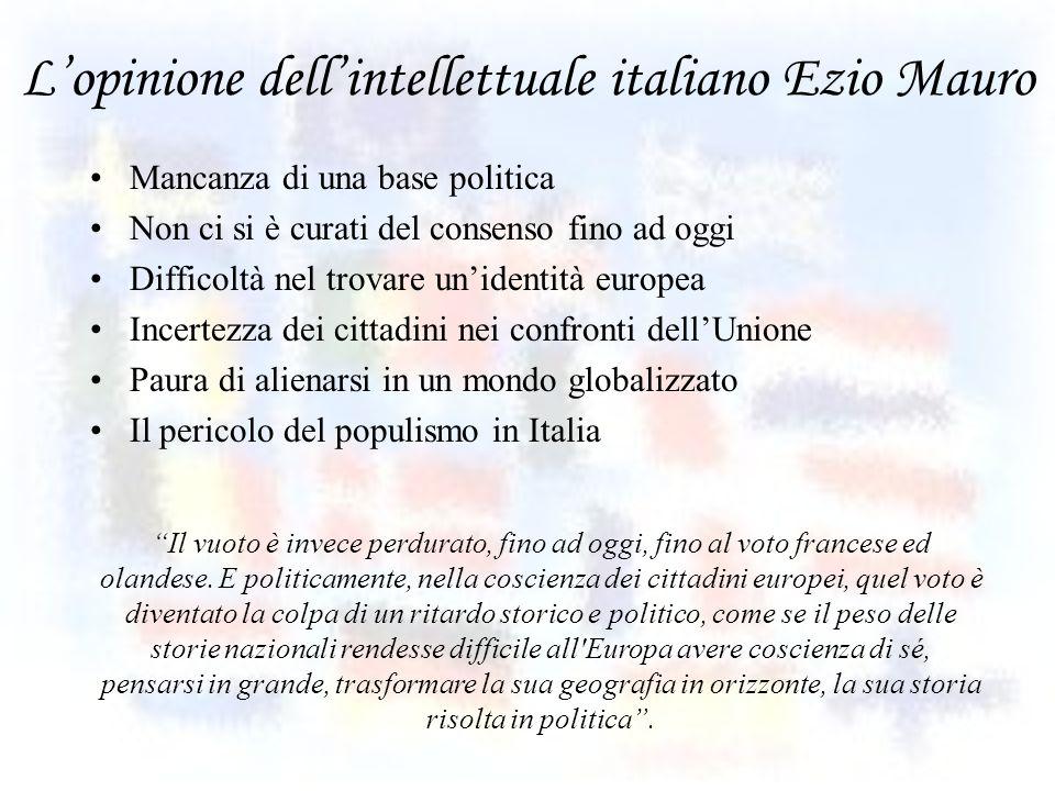 L'opinione dell'intellettuale italiano Ezio Mauro