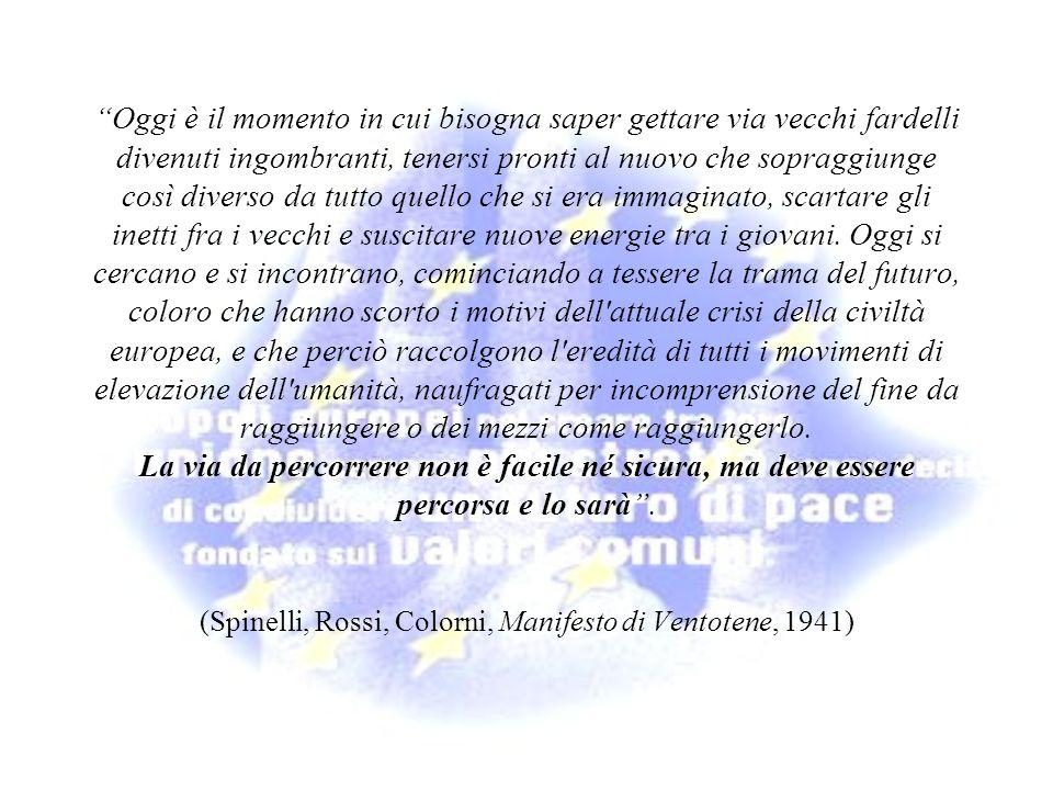 (Spinelli, Rossi, Colorni, Manifesto di Ventotene, 1941)