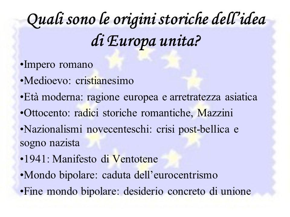 Quali sono le origini storiche dell'idea di Europa unita