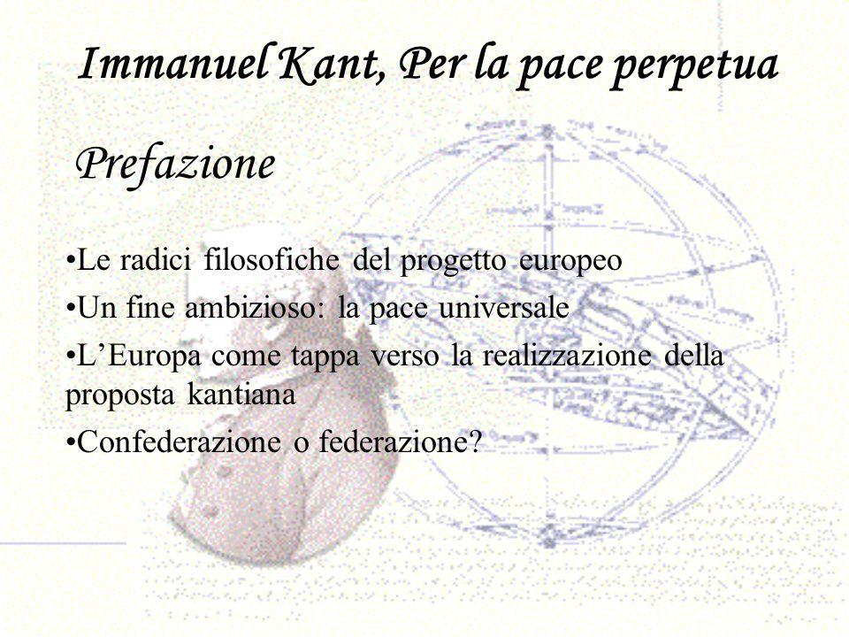 Immanuel Kant, Per la pace perpetua