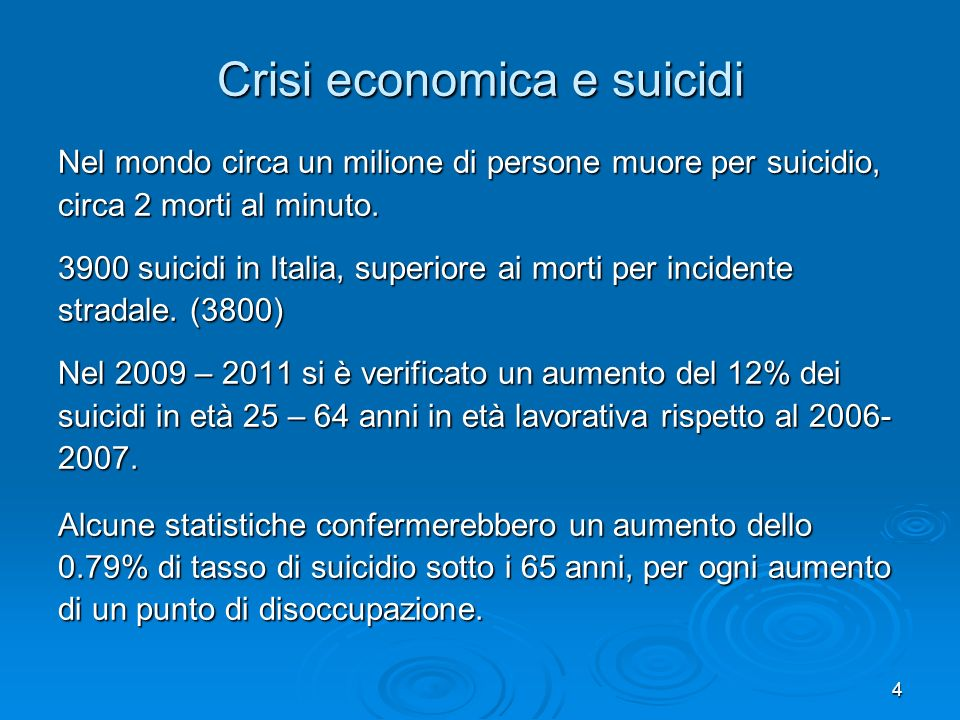 Crisi economica e suicidi