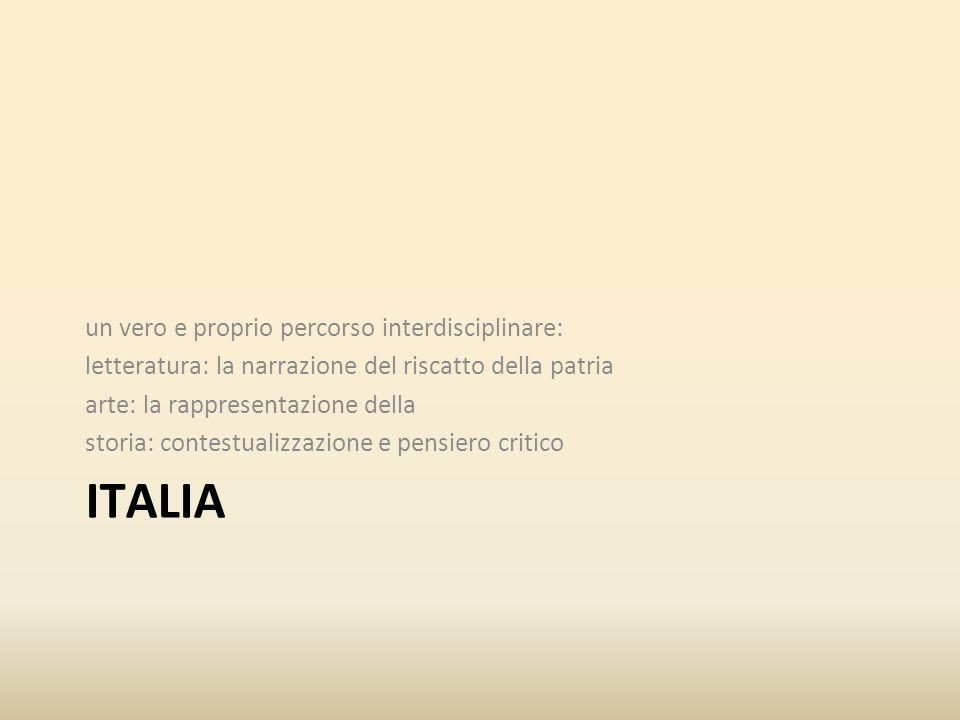 ITALIA un vero e proprio percorso interdisciplinare: