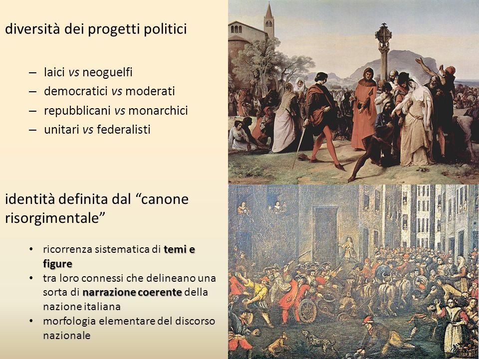 diversità dei progetti politici