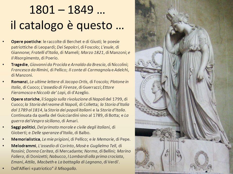 1801 – 1849 … il catalogo è questo …