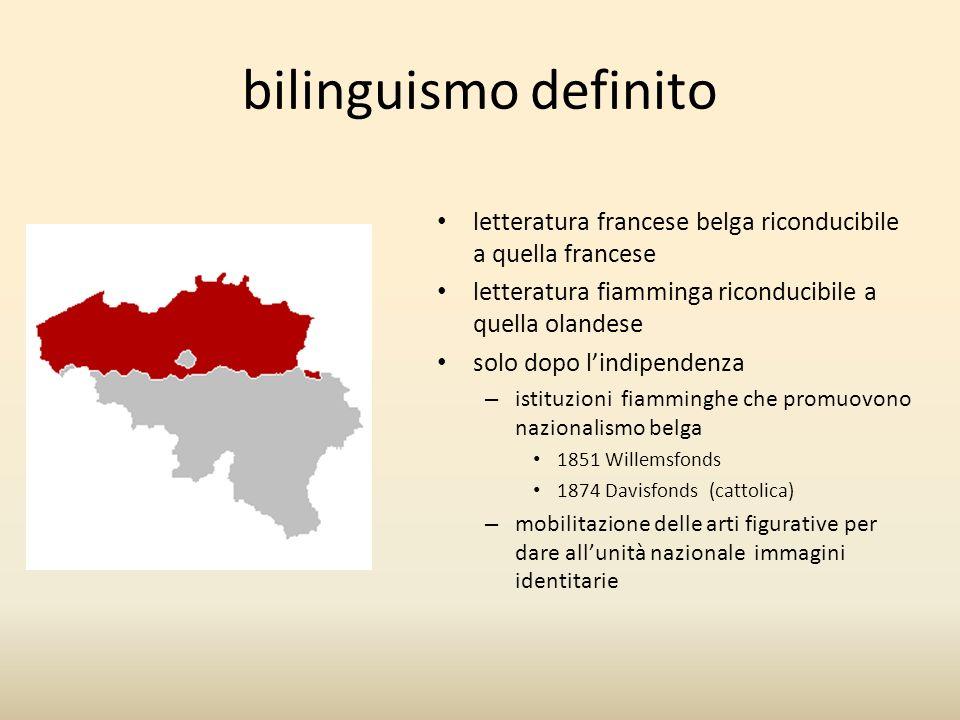 bilinguismo definito letteratura francese belga riconducibile a quella francese. letteratura fiamminga riconducibile a quella olandese.