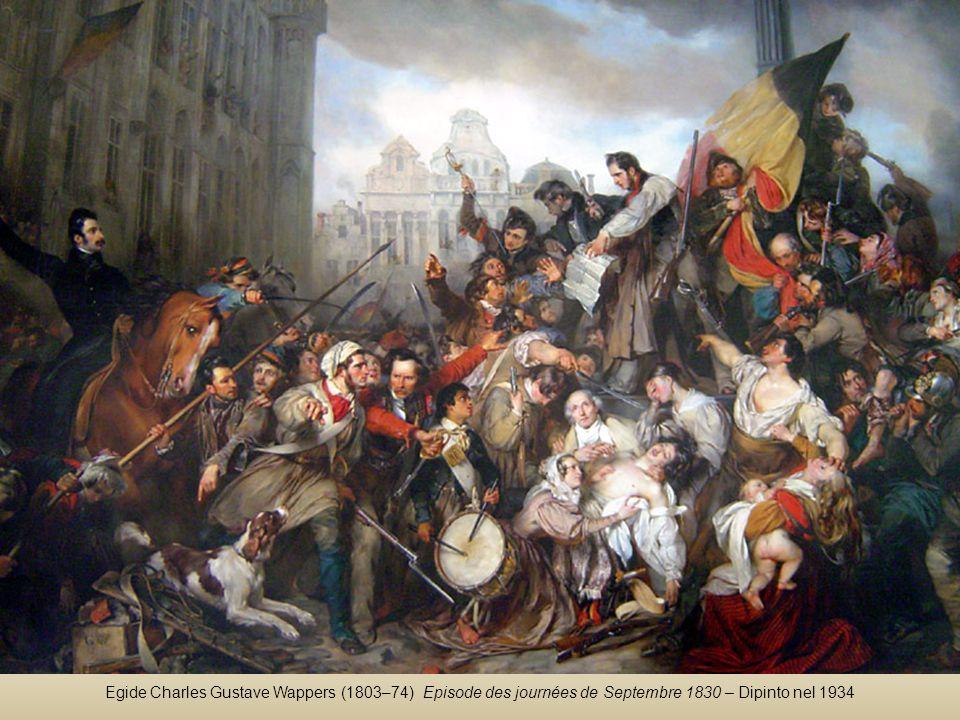 Egide Charles Gustave Wappers (1803–74) Episode des journées de Septembre 1830 – Dipinto nel 1934
