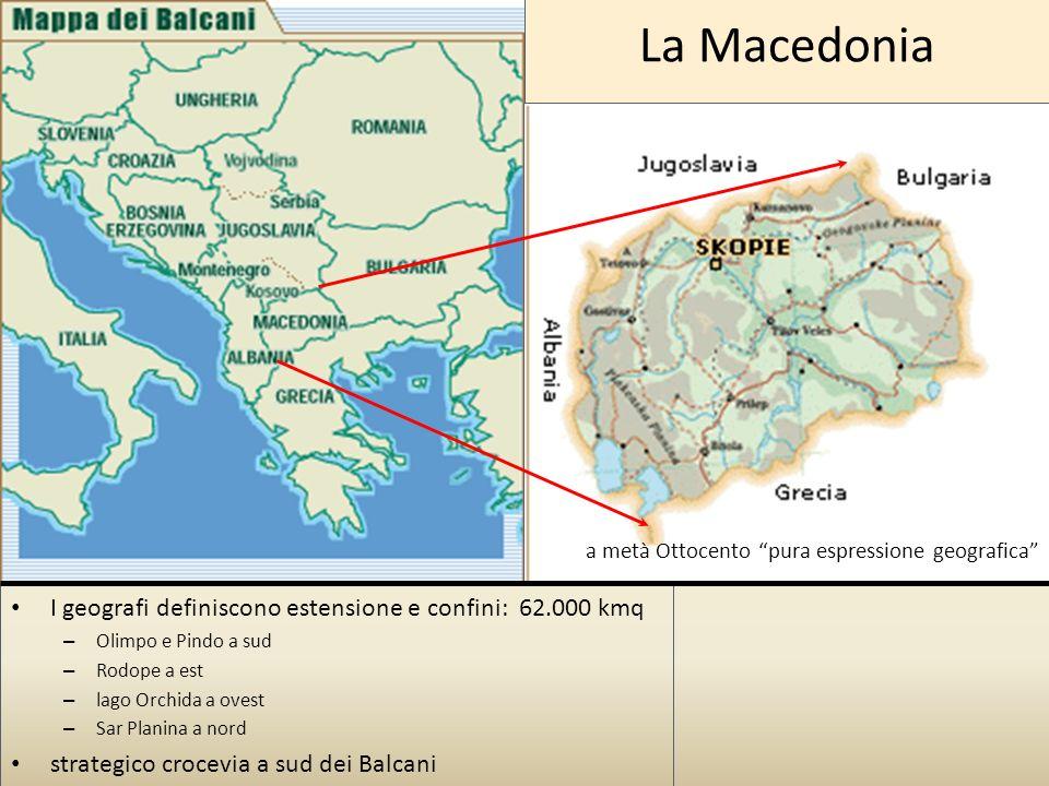 La Macedonia I geografi definiscono estensione e confini: 62.000 kmq