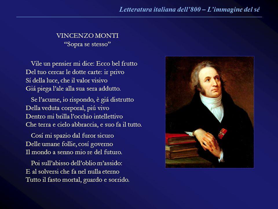 Letteratura italiana dell'800 – L'immagine del sé