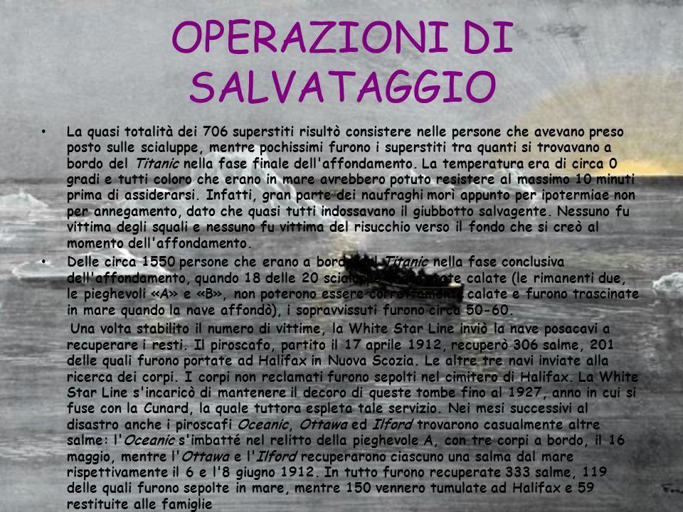 OPERAZIONI DI SALVATAGGIO