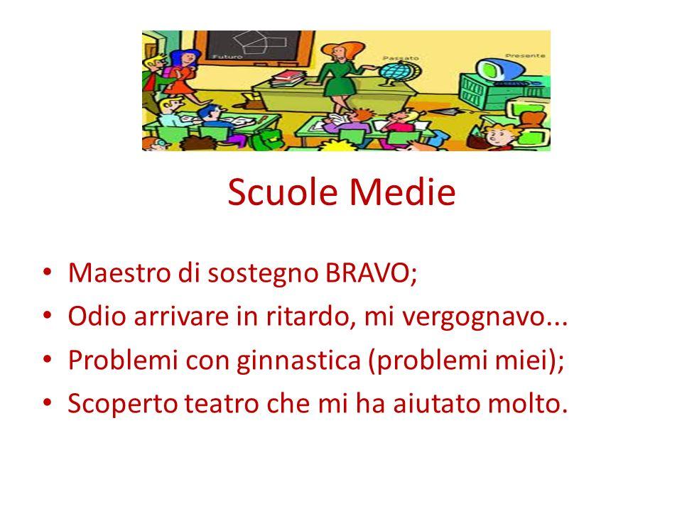 Scuole Medie Maestro di sostegno BRAVO;