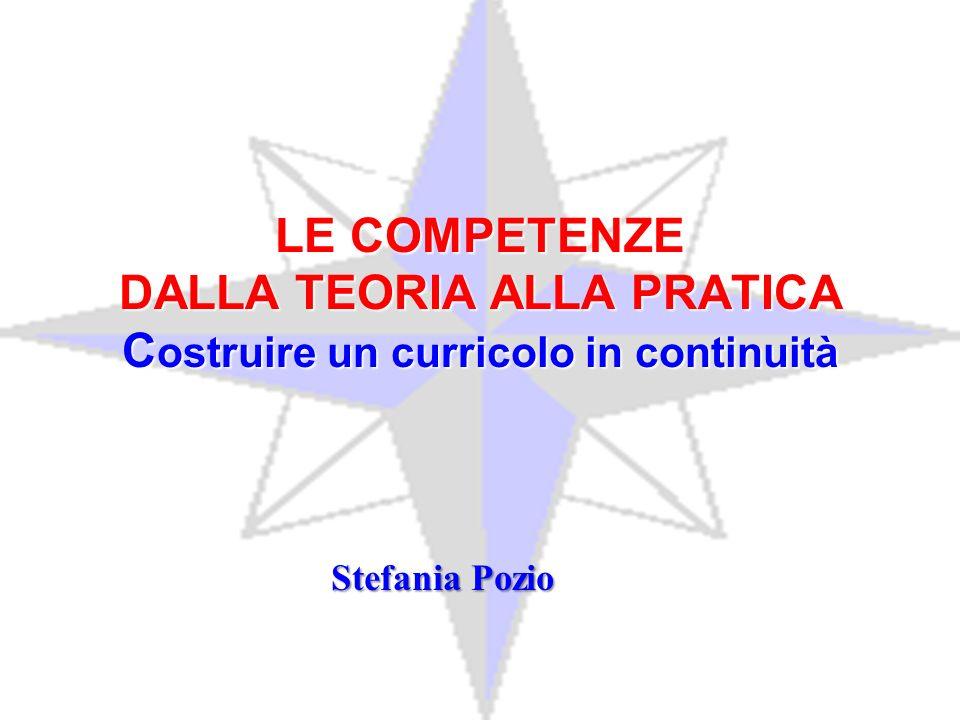 LE COMPETENZE DALLA TEORIA ALLA PRATICA Costruire un curricolo in continuità