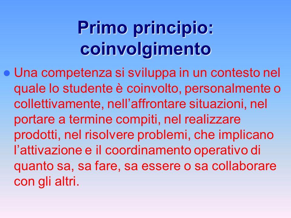 Primo principio: coinvolgimento
