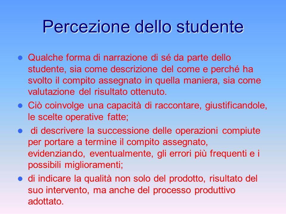 Percezione dello studente