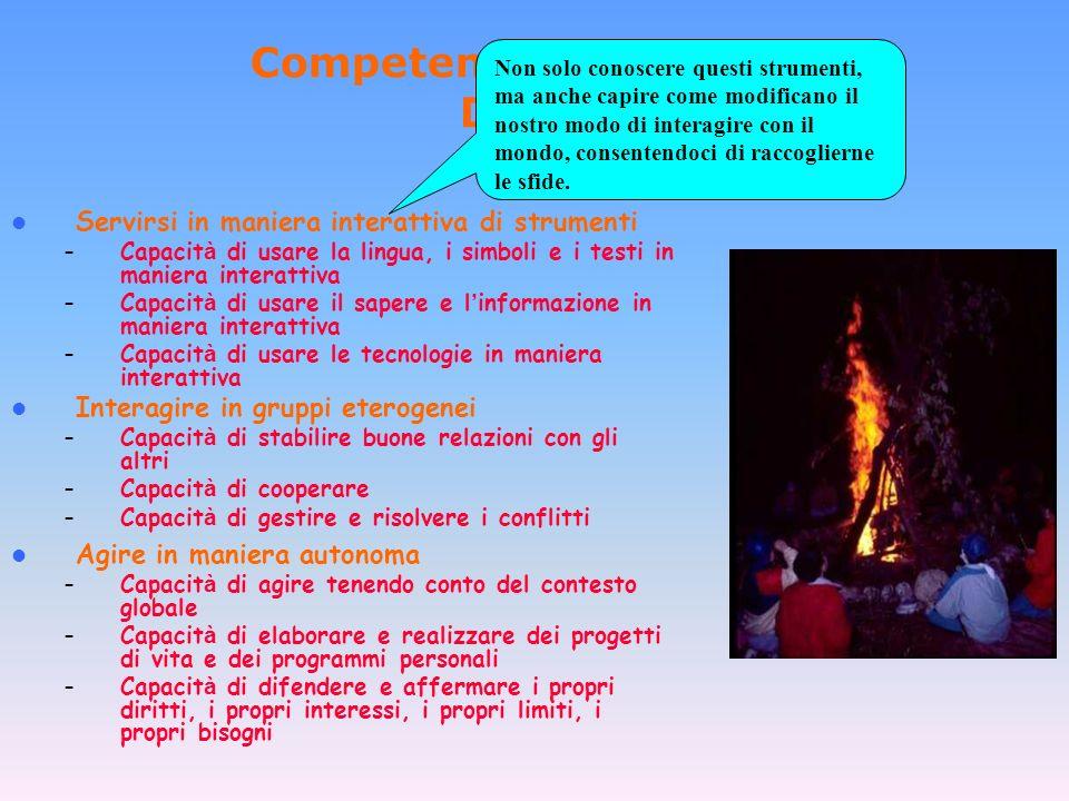 Competenze proposte dal DeSeCo