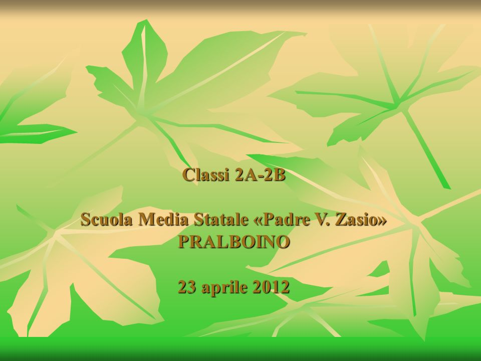Classi 2A-2B Scuola Media Statale «Padre V