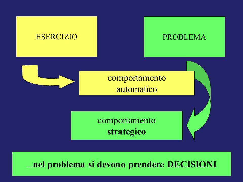 ...nel problema si devono prendere DECISIONI