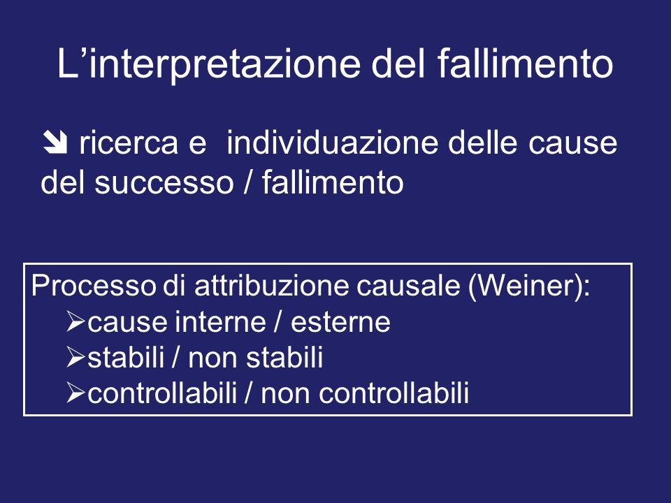 L'interpretazione del fallimento