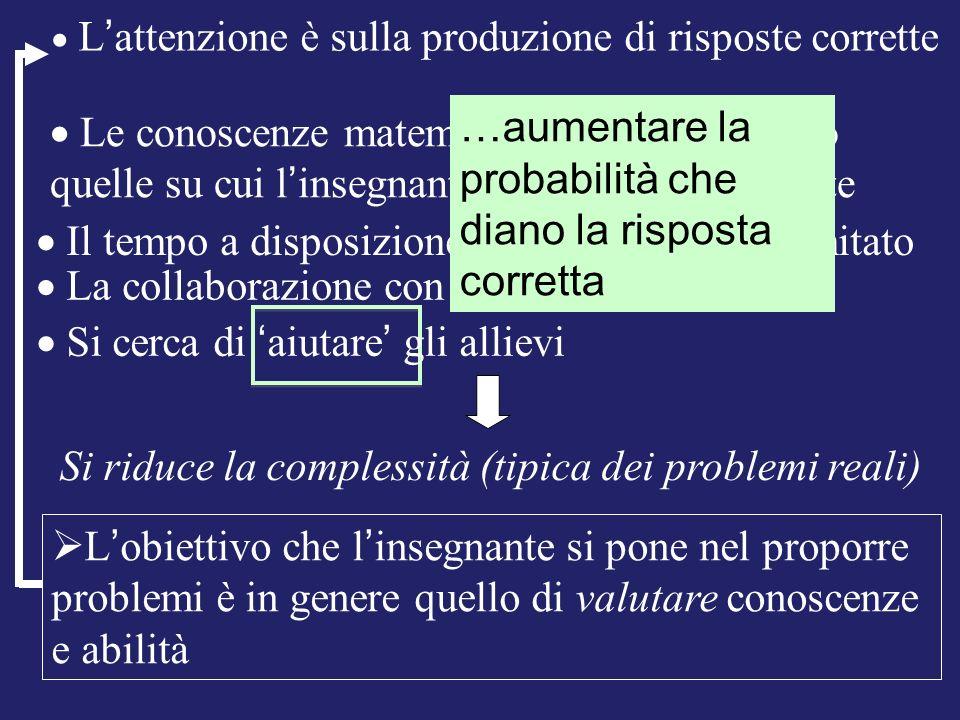 Si riduce la complessità (tipica dei problemi reali)