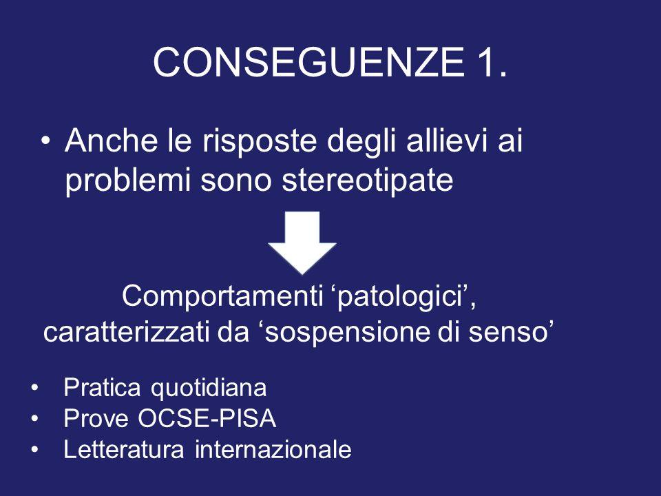 Comportamenti 'patologici', caratterizzati da 'sospensione di senso'