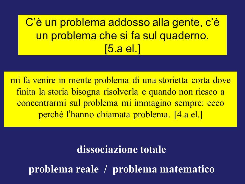 problema reale / problema matematico