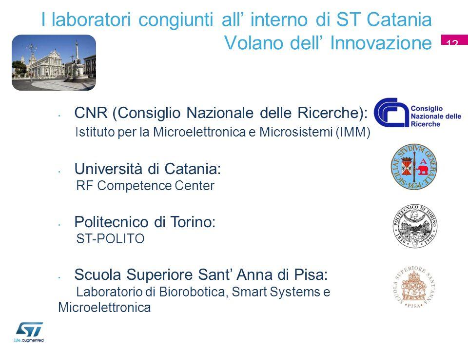 1212 I laboratori congiunti all' interno di ST Catania Volano dell' Innovazione. 12. CNR (Consiglio Nazionale delle Ricerche):