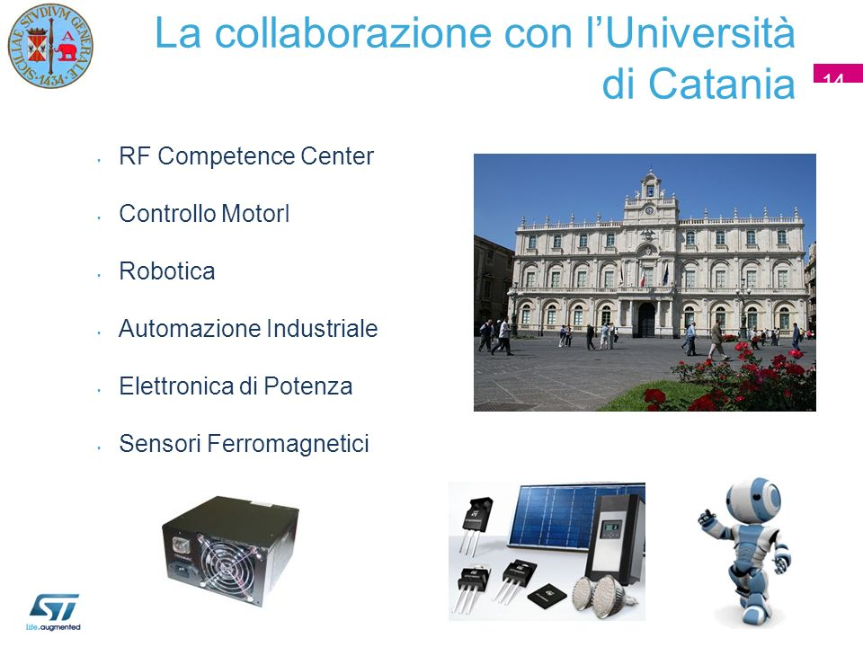 La collaborazione con l'Università di Catania