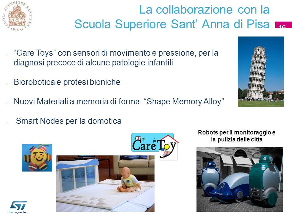 La collaborazione con la Scuola Superiore Sant' Anna di Pisa