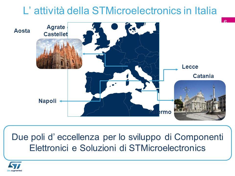 L' attività della STMicroelectronics in Italia