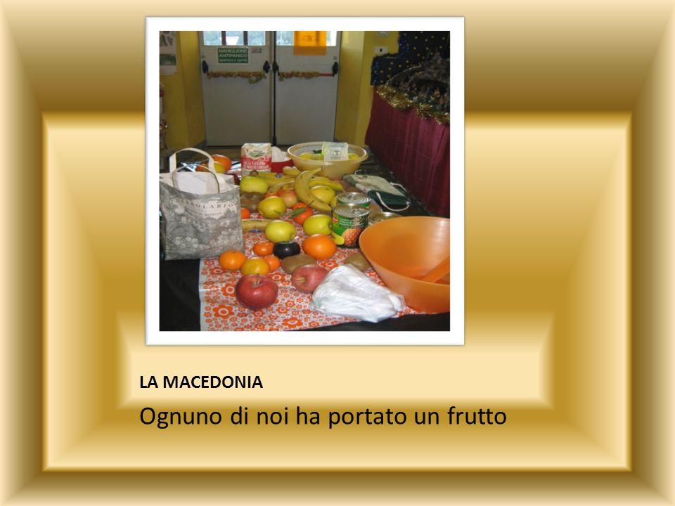 Ognuno di noi ha portato un frutto