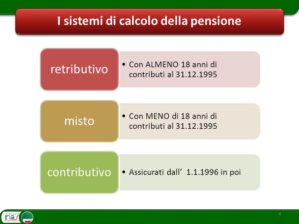 I sistemi di calcolo della pensione