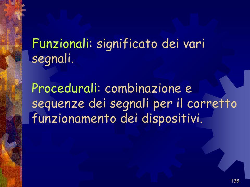 Funzionali: significato dei vari segnali
