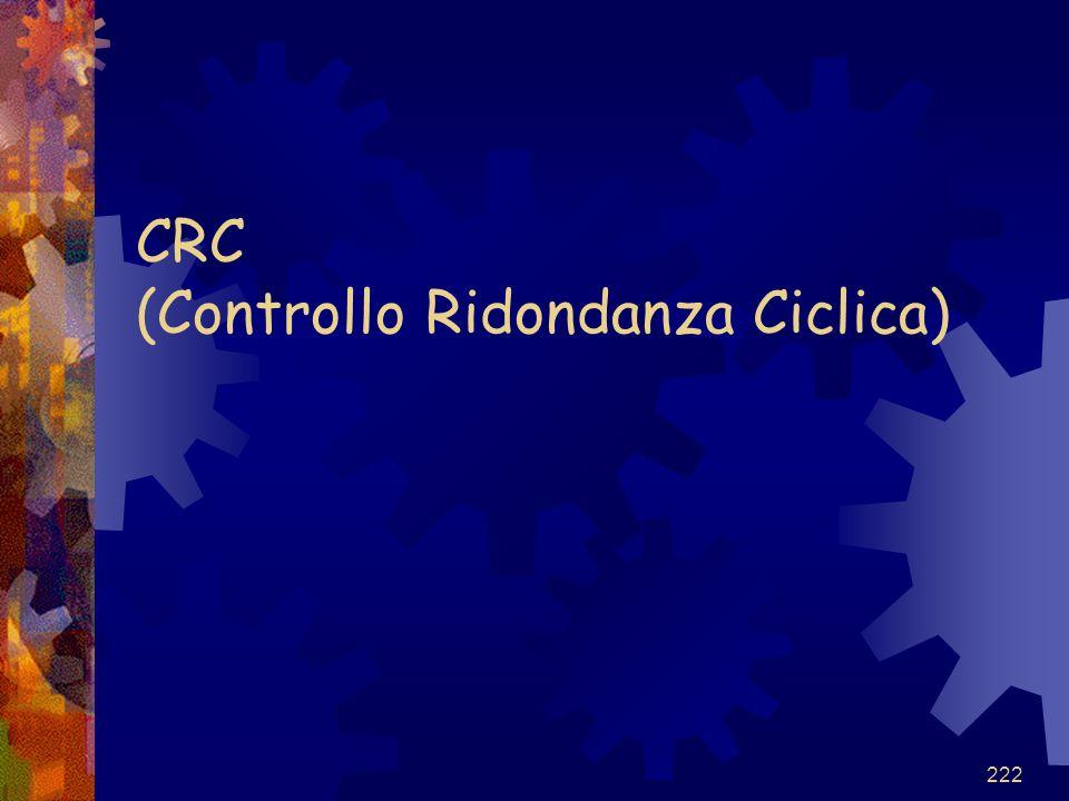 CRC (Controllo Ridondanza Ciclica)