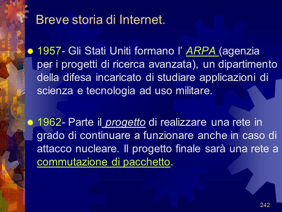 Breve storia di Internet.